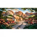 Puzzle  Schmidt-Spiele-59375 Carl Warner, Small Mountain Village, Culinary Landscape