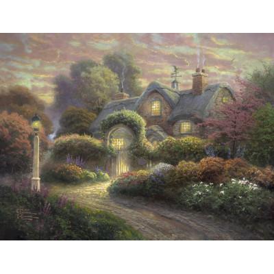 Puzzle Schmidt-Spiele-59466 Thomas Kinkade, Cottage