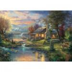 Puzzle  Schmidt-Spiele-59467 Thomas Kinkade, Paradise