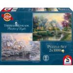 Schmidt-Spiele-59468 2 Jigsaw Puzzles - Thomas Kinkade