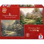 Schmidt-Spiele-59469 2 Puzzles - Thomas Kinkade