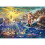 Puzzle  Schmidt-Spiele-59479 Thomas Kinkade - The Little Mermaid