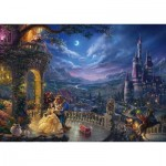 Puzzle  Schmidt-Spiele-59484 Thomas Kinkade - Disney, Beauty and the Beast