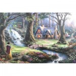 Puzzle  Schmidt-Spiele-59485 Thomas Kinkade - Disney, Snow White