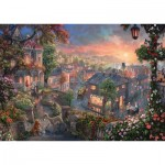 Puzzle  Schmidt-Spiele-59490 Thomas Kinkade - Disney - Beauty and the Tramp