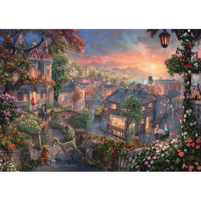 Thomas Kinkade - Disney - Beauty and the Tramp