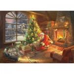 Puzzle  Schmidt-Spiele-59495 Thomas Kinkade - Santa Claus is here!