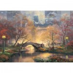 Puzzle  Schmidt-Spiele-59496 Thomas Kinkade - Central Park in Autumn