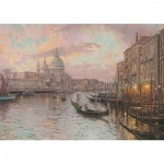 Puzzle  Schmidt-Spiele-59499 Thomas Kinkade - In the Streets of Venice