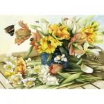 Puzzle  Schmidt-Spiele-59573 Spring Flowers