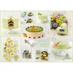 Puzzle  Schmidt-Spiele-59575 Spring Green Cake Buffet