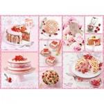 Puzzle  Schmidt-Spiele-59576 Pink Cake Happiness