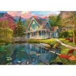 Puzzle  Schmidt-Spiele-59619 Dominic Davison, House by the Lake