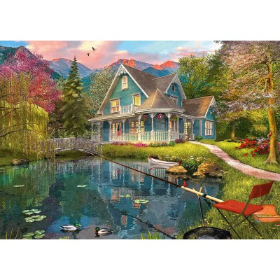 Puzzle Schmidt-Spiele-59619 Dominic Davison, House by the Lake