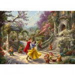 Puzzle  Schmidt-Spiele-59625 Thomas Kinkade, Disney, Snow White - Dance with the Prince