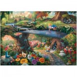 Puzzle  Schmidt-Spiele-59636 Thomas Kinkade - Disney - Alice in Wonderland