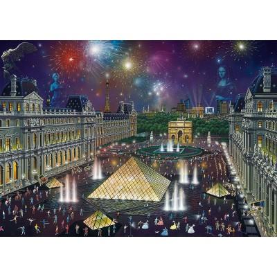 Puzzle Schmidt-Spiele-59648 Alexander Chen, Fireworks at the Louvre