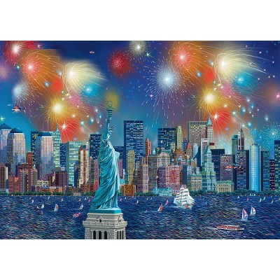 Puzzle Schmidt-Spiele-59649 Alexander Chen - Fireworks over New York