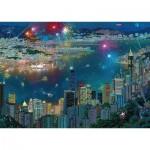 Puzzle  Schmidt-Spiele-59650 Alexander Chen - Fireworks over Hong Kong