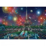 Puzzle  Schmidt-Spiele-59651 Alexander Chen, Fireworks at the Eiffel Tower