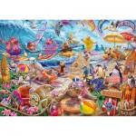 Puzzle  Schmidt-Spiele-59662 Steve Sundram, Beach Mania