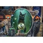 Puzzle  Schmidt-Spiele-59665 Lisa Parker - Magical Cats