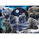 Puzzle  Schmidt-Spiele-59666 Lisa Parker - Magnificent Wolves
