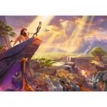 Puzzle  Schmidt-Spiele-59673 Thomas Kinkade - Disney - Lion King