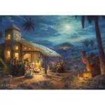 Puzzle  Schmidt-Spiele-59676 Thomas Kinkade, Spirit, Jesus' Birt