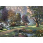 Puzzle  Schmidt-Spiele-59677 Thomas Kinkade, Spirit, Way of Faith