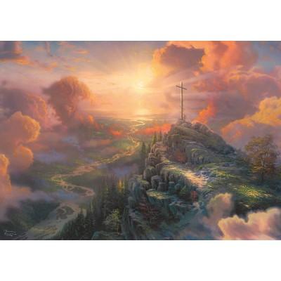 Puzzle Schmidt-Spiele-59679 Thomas Kinkade - Spirit - The Cross