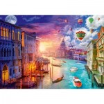 Puzzle  Schmidt-Spiele-59906 Lars Stewart - Venice - Night and Day