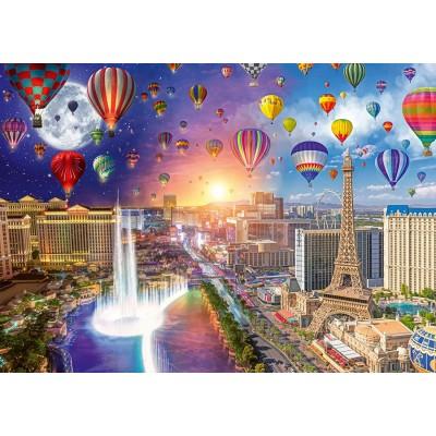 Puzzle Schmidt-Spiele-59907 Lars Stewart - Las Vegas - Night and Day