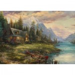 Puzzle  Schmidt-Spiele-59918 Thomas Kinkade - Father's Day Outing