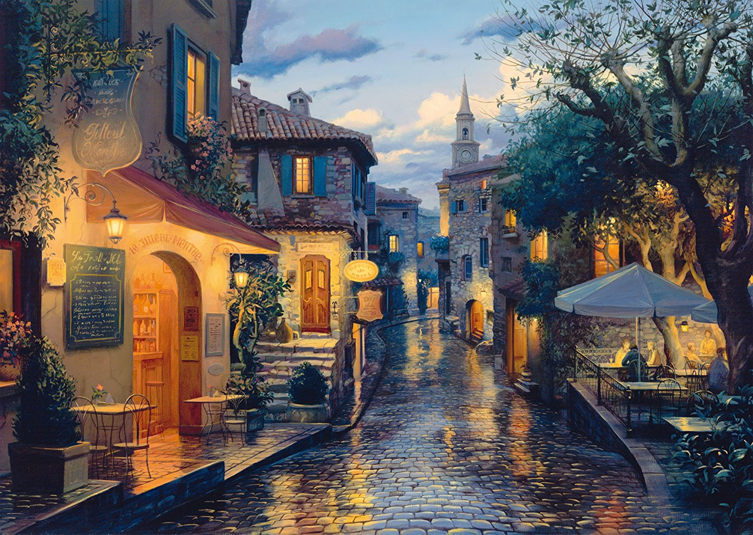 Stock Cars For Sale >> Puzzle Evgeny Lushpin - Magical Evening Mood Schmidt-Spiele-59563 1000 pieces Shops and City ...