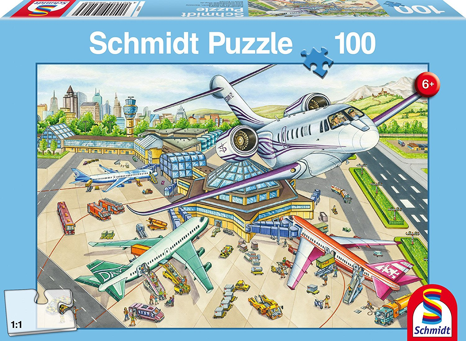Puzzle one day at the airport schmidt spiele 56206 100 pieces jigsaw one day at the airport one day at the airport gumiabroncs Image collections