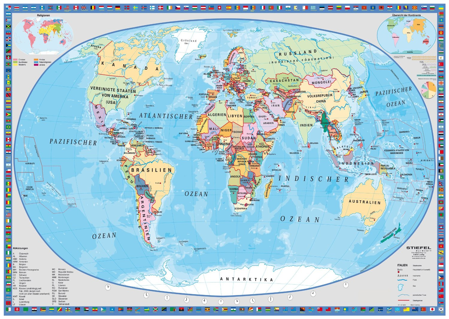 Puzzle political world map schmidt spiele 58186 1000 pieces jigsaw political world map gumiabroncs Image collections