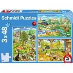 Puzzle   The Farm (3x48 Pieces)