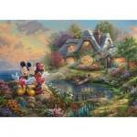 Puzzle   Thomas Kinkade, Disney-Sweethearts Mickey & Minnie