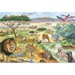 Puzzle   Tiere in Ostafrika (in German)