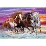 Puzzle   Trio of Wild Horses
