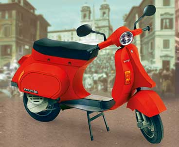 puzzle cardboard model vespa pk 50 xl2 schreiber bogen. Black Bedroom Furniture Sets. Home Design Ideas