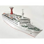 Puzzle  Schreiber-Bogen-3337 Cardboard Model:  Cruise Ship - TS Hamburg