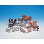 Puzzle  Schreiber-Bogen-555 Cardboard model: Farm animals
