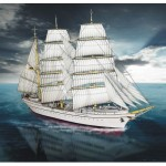 Puzzle  Schreiber-Bogen-616 Carton model: Sailboat Gorch Fock