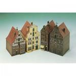 Schreiber-Bogen-662 Cardboard Model: 4 Houses from Lüneburg II