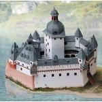 Puzzle  Schreiber-Bogen-670 Cardboard Model: Pfalz Castle in the Rhine near Kaub