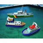 Schreiber-Bogen-699 Cardboard Model: Three Small Ships