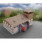 Puzzle  Schreiber-Bogen-717 Cardboard Model: Fire Station