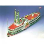 Puzzle  Schreiber-Bogen-71827 Cardboard Model: Wheel boat Mississippi